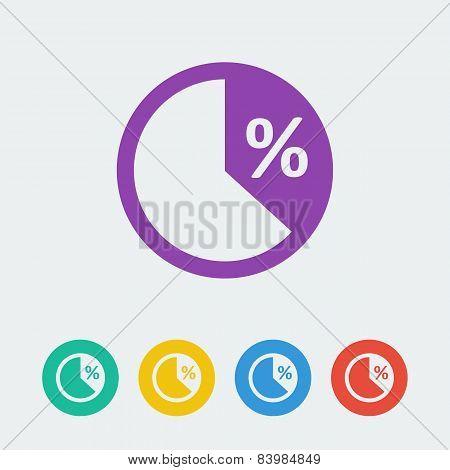 vector pie flat circle icon