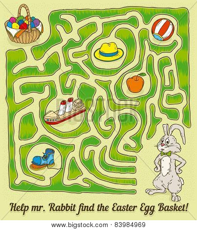 Easter Rabbit Maze Game