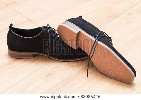 Black Suede Shoes With Laces