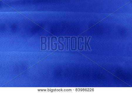 Blue fabric.
