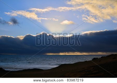 Beach near La Pared on the Canary Island Fuerteventura, Spain