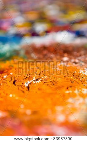 Defocused Oilify. Abstract oil painting background.