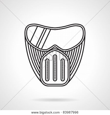 Paintball mask flat line icon