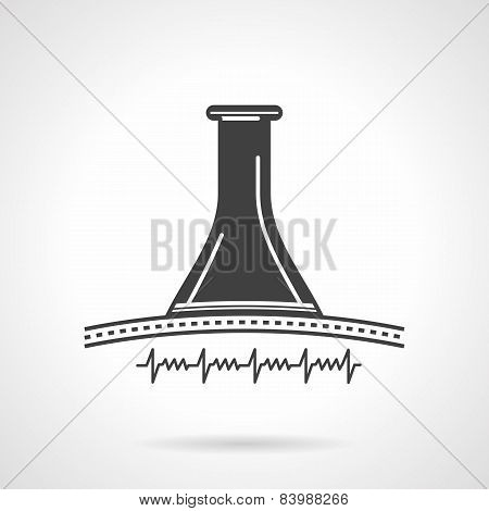 Black vector icon for obstetrics stethoscope