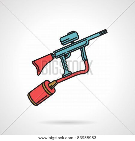 Flat color vector icon for paintball gun