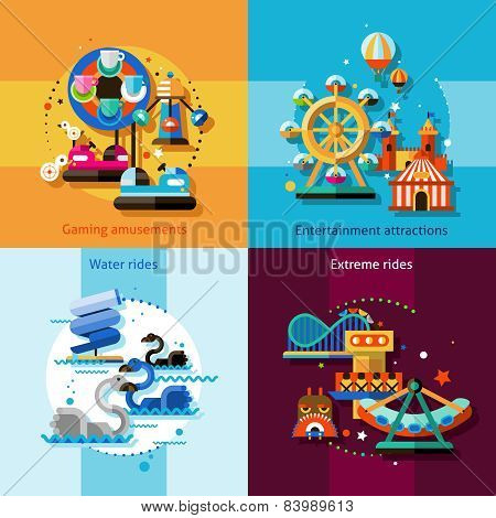 Amusement Design Concept Set