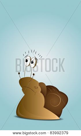 Cartoon sad snail