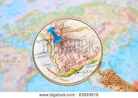 Looking In On Sana, Yemen, Asia