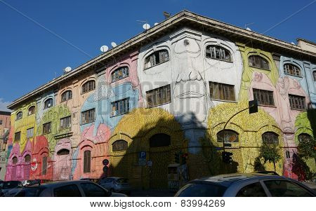Mural Builidng In Rome