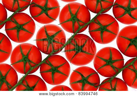 Red tomatoes on isolated backround