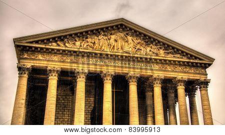 Eglise De La Madeleine In Paris, France