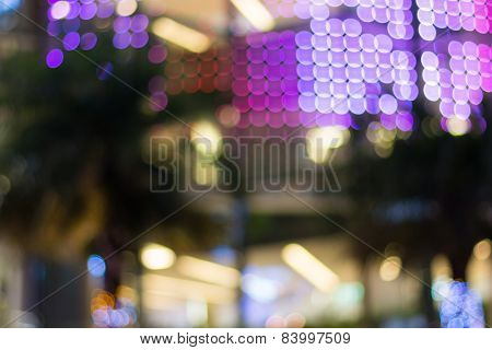 Abstract Bokeh Background At Night