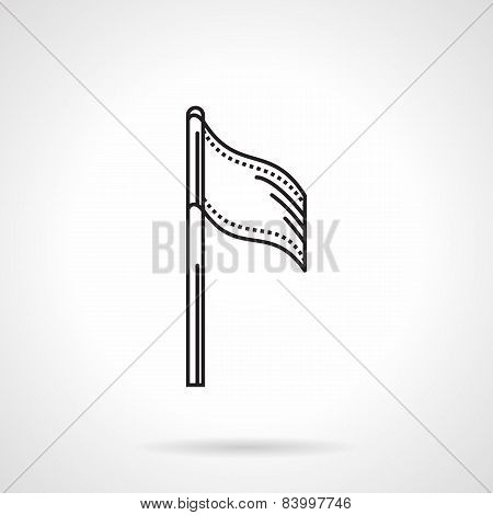 Sport flag black line vector icon