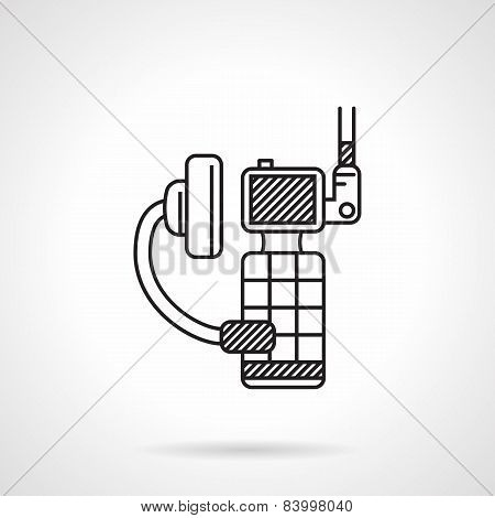 Black vector icon for portable radio device