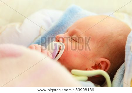 Little Newborn Baby Girl 24 Days Sleeps
