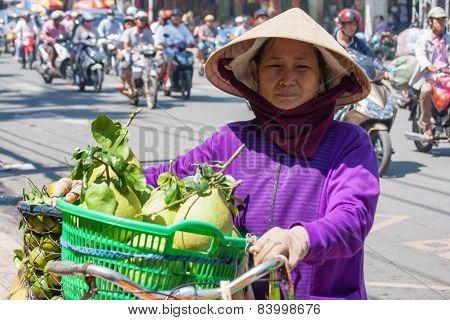 Woman Fruit Vendor