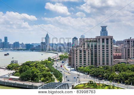 Shanghai Bund In Daytime