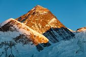 picture of nepali  - Evening view of Mount Everest from Kala Patthar  - JPG