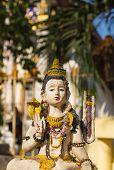stock photo of shiva  - Sculpture on bronze of Shiva Nataraja or Mahesh is one of Hindu god - JPG