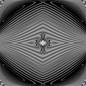 foto of distort  - Design monochrome whirl circular motion background - JPG