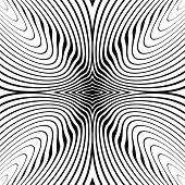image of distort  - Design monochrome whirl circular motion background - JPG