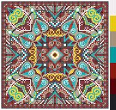 pic of stitches  - geometric square pattern for cross stitch ukrainian traditional embroidery - JPG