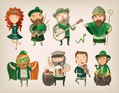 pic of saint patrick  - Set of people and characters you can find in an irish pub at saint Patrick - JPG