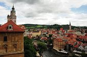 picture of bohemia  - Beautiful historical town Cesky Krumlov in South Bohemia - JPG