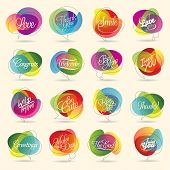 foto of courtesy  - Colorful Design Element and Abstract Web Icon and logo Vector Symbol - JPG