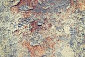 picture of scrap-iron  - Grunge iron rust background with peeling paint - JPG