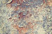 foto of scrap-iron  - Grunge iron rust background with peeling paint - JPG