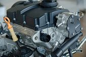 stock photo of combustion  - detail of a modern internal combustion engine - JPG