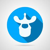 ������, ������: Thoracic vertebra blue vector icon