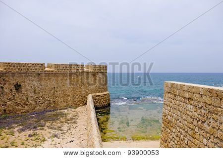 Old sea Walls Of Acre, Israel