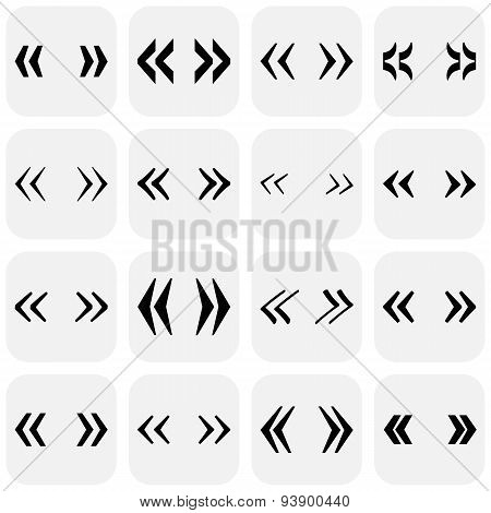 Set of quotes mark. Vector illustration