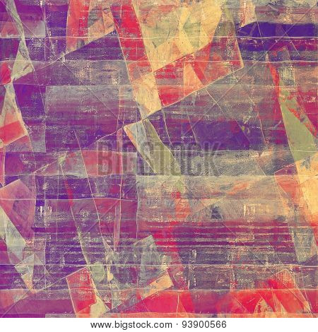 Retro background with grunge texture. With different color patterns: yellow (beige); green; purple (violet); red (orange)