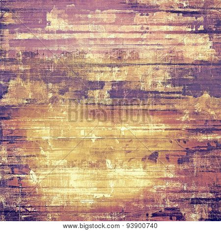 Aging grunge texture, old illustration. With different color patterns: yellow (beige); brown; purple (violet); pink