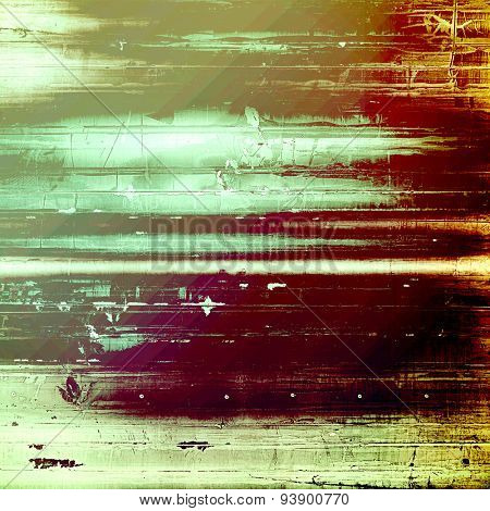 Background with grunge stains. With different color patterns: yellow (beige); green; purple (violet); pink