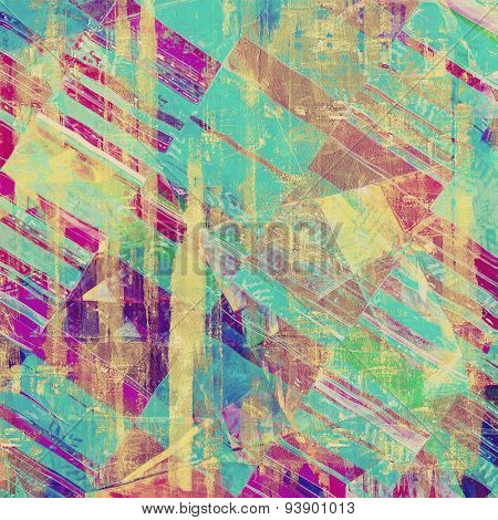 Vintage texture for background. With different color patterns: yellow (beige); brown; green; blue; purple (violet)