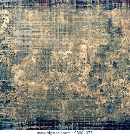 Vintage old texture for background. With different color patterns: brown; gray; green; blue