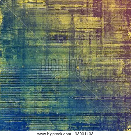 Background with grunge stains. With different color patterns: yellow (beige); green; blue; purple (violet)