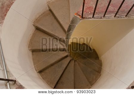 View Of An Old Spiral Staircase
