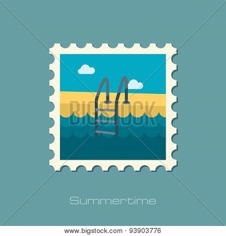 Swimming Pool Flat Stamp