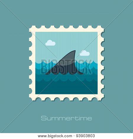 Shark Fin Flat Stamp