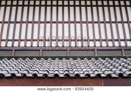 Wall And Roof Of A Japanese House