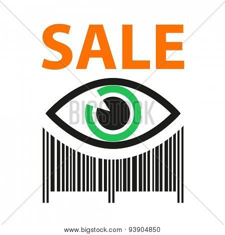 Template icon. Sign sales. Barcode. Shopping. Discounts. Sale. Buy.