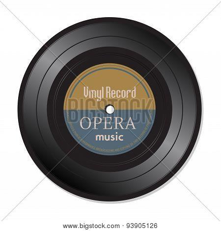 Opera music vinyl record