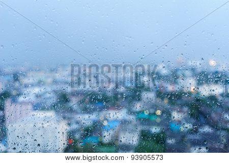 Raindrop On The Windows