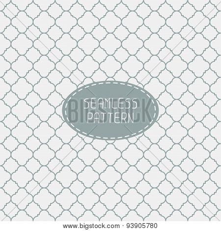 Geometric line monochrome lattice seamless arabic pattern. Islamic oriental style. Wrapping paper. S