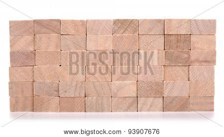 Wooden blocks made of natural wood